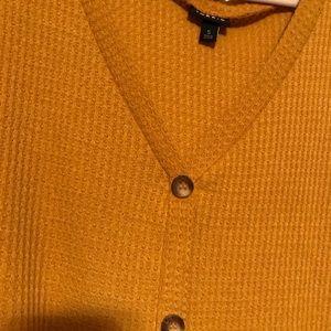 Torrid size 5, mustard tie-front, shirt